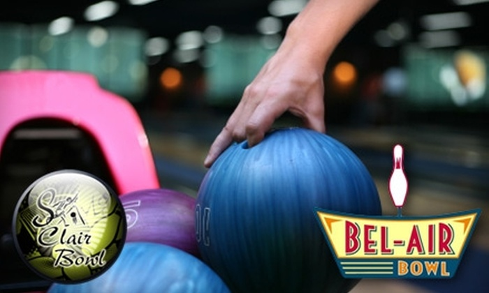 St. Clair Bowl & Bel-Air Bowl - Multiple Locations: $5 for Two Games of Bowling, Shoe Rental, and 10 Arcade Tokens at St. Clair and Bel-Air Bowling Centers (Up to $13 Value)