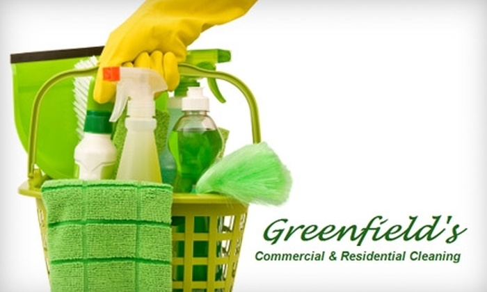 Greenfield's Cleaning - Harrisburg / Lancaster: Carpet Cleaning or Two Hours of In-Home Cleaning Services from Greenfield's Cleaning (Up to $100 Value)