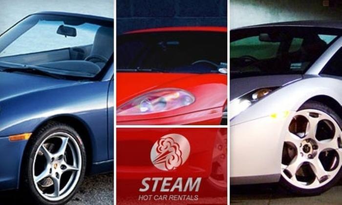 Steam Hot Car Rentals - Lenox: Half-Day Supercar Rentals from Steam Hot Car Rentals in Cambridge. Choose One of Three Luxury Automobiles.