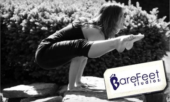 BareFeet Studios - Nashville-Davidson metropolitan government (balance): $60 for Ten Yoga, Pilates, Zumba, or Dance Classes at BareFeet Studios (Up to $150 Value)