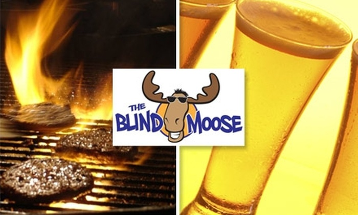 The Blind Moose - Hamilton: $5 for $10 Worth of Fresh Fare & Cold Beer at The Blind Moose
