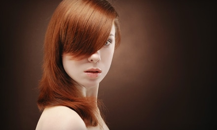 Amoy Couture Hair - Upper East Side: $59 for Regular- or Senior-Level Cut, Blow-Dry, Style, and Customized Conditioning Treatment at Amoy Couture Hair (Up to $295 Value). Half-Highlight Option Available.