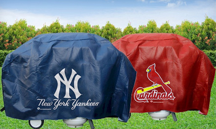 Up To 52 Off A Vinyl Mlb Grill Cover Groupon Goods