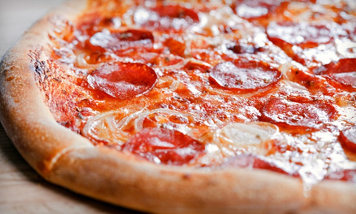 Mario the Baker - Multiple Locations: $8 for One Large 16-Inch Pizza with Up to Two Toppings at Mario the Baker (Up to $15.95 Value). Two Locations Available.