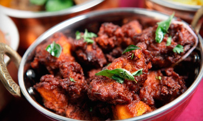 Amruth Indian Kitchen - Stemmons Corridor: $10 for BYOB Indian Buffet Lunch or Dinner for Two at Amruth Indian Kitchen in Irving ($19.98 Value)