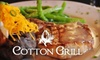 Cotton Grill - Lexington: Lunch, Dinner, or Four-Course Prix-Fixe Menu at Cotton Grill in Lexington. Choose from Three Options.