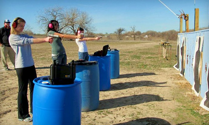 Texan Defender - Old Town District: Two-Hour Beginner Pistol Class with Ammo and Fees for One or Two at Texan Defender in Georgetown (Up to 60% Off)