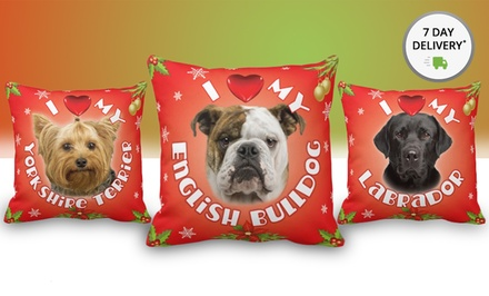 Christmas Dog Throw Pillows. Multiple Styles Available. Free Returns.