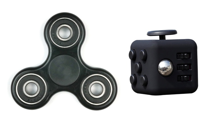 Fidget Bundle Spinner And Cube 2 Piece Groupon