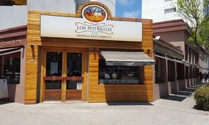 Los Potrillos: Almuerzo o cena para 2 o 4 con entrada + plato principal + postre + bebida + café en Los Potrillos