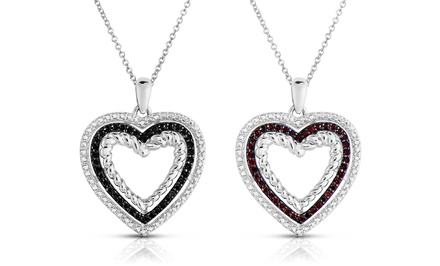 1/5 CTTW Black or Red Diamond Pendant