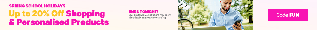 Use code FUN and enjoy up to an extra 20% off Shopping & Personalised Products. Ends tonight. Some deals excluded.