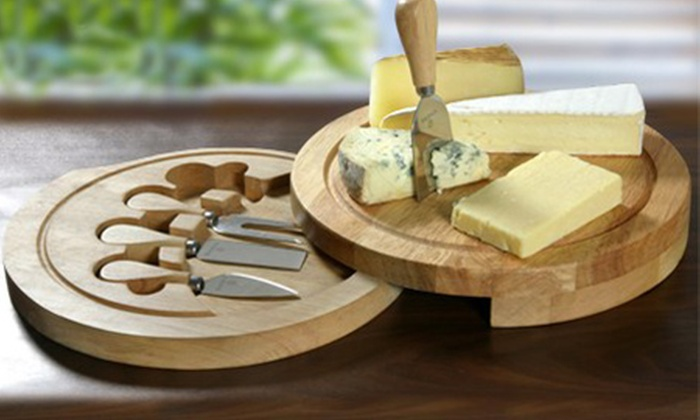 Groupon Goods Global GmbH: Viners Four-Piece Cheese Set from £16 With Free Delivery (Up to 70% Off)