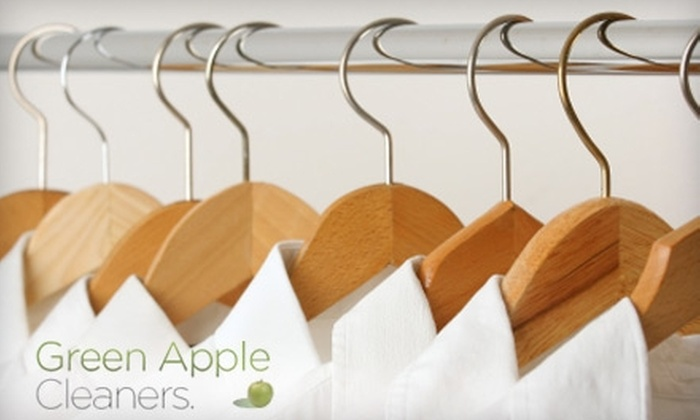 Green Apple Cleaners - Multiple Locations: $25 for $50 Worth of Eco-Friendly Dry Cleaning at Green Apple Cleaners