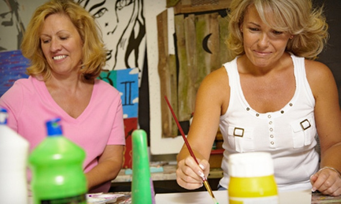 The Social Palette - Pueblo: BYOB Art Parties for Four or Eight with Instruction from The Social Palette (Up to 53% Off)