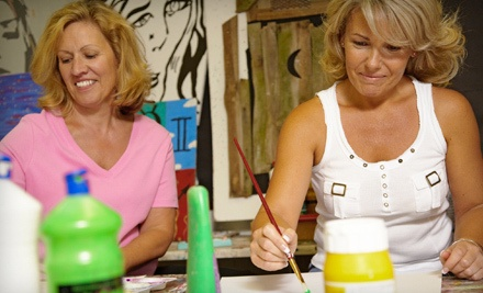 3-Hour BYOB Art Party with Instruction for Four People (a $160 value) - The Social Palette in