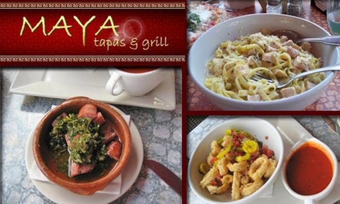 Maya Tapas & Grill - City Center: $10 for $25 Worth of Food and Drinks at Maya Tapas & Grill