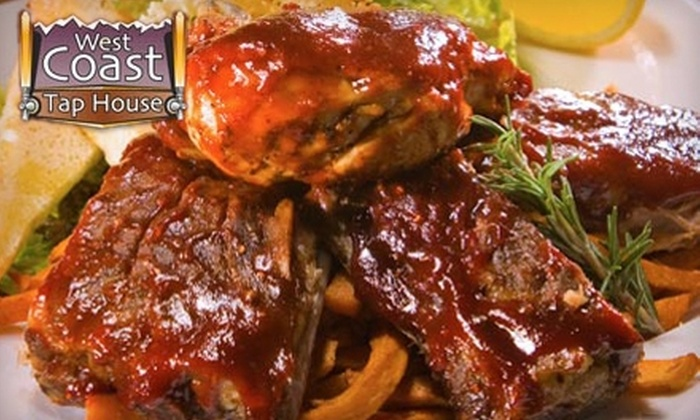 West Coast Tap House Gastro Pub and Lounge - Victoria: $20 for $40 Worth of Dinner Fare or $10 for $20 Worth of Breakfast or Lunch at West Coast Tap House Gastro Pub and Lounge