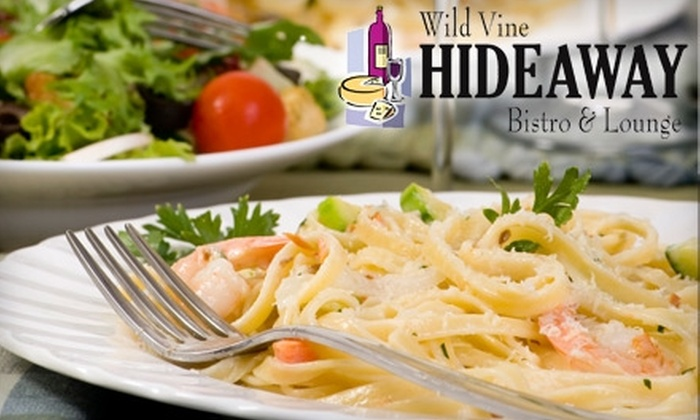 Wild Vine Hideaway Restaurant and Wine Bar - Danville: $15 for $30 Worth of Mediterranean- and Southern-Inspired Cuisine and Wine at Wild Vine Hideaway Restaurant and Wine Bar in Danville