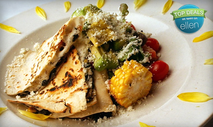 Arriba Arriba Mexican Cuisine - Sunnyside: Appetizer, Entrees, and Margaritas, Sangria, or Non-Alcoholic Drinks for Two or Four at Arriba Arriba Mexican Cuisine (Up to 65% Off)