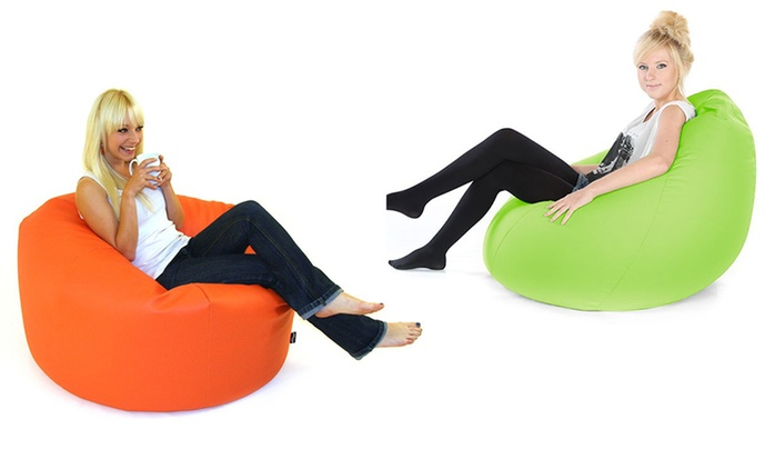 PVC Leather Beanbag in Choice of Colour for AED 129 (63% Off)