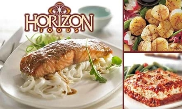 Horizon Foods Long Island: $35 for $75 Worth of Portion-Controlled Meats and Dinner Entrees with Home Delivery from Horizon Foods