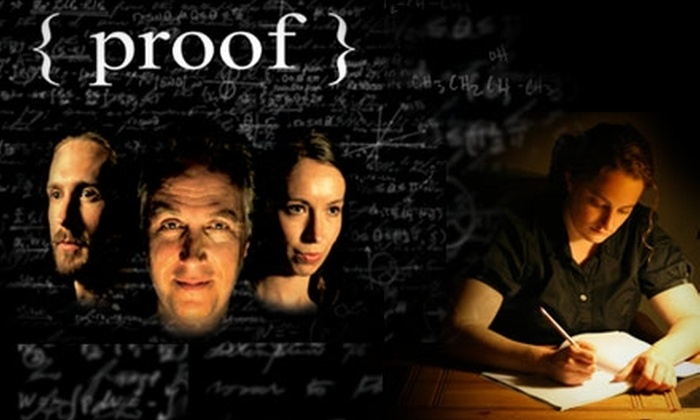 "The Theater Within - Fountain Square: $7 Ticket to a Performance of ""Proof"" at The Theater Within. Choose from Six Dates."