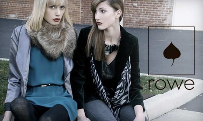 Rowe Boutique - Short North: $50 for $100 Worth of Clothing, Accessories, and Jewelry at Rowe Boutique