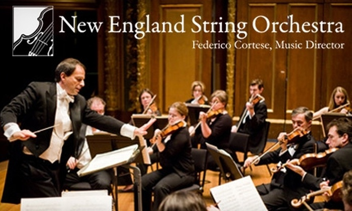 New England String Orchestra - Multiple Locations: One Ticket to the New England String Orchestra on December 4 or 5. Choose from Five Options.