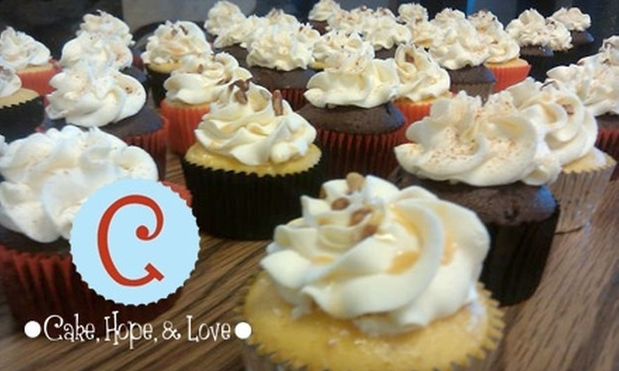 Cake, Hope and Love - Riverside: $12 for a Dozen Cupcakes at Cake, Hope, and Love ($25 Value)