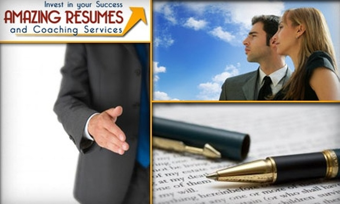 Amazing Resumes & Coaching Services - Baltimore: $35 for a Comprehensive Resume and Cover-Letter Critique and Webinar From Amazing Resumes & Coaching Services ($70 Value)
