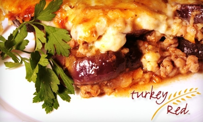Turkey Red - Palmer: $30 for $60 Worth of Locally Sourced and Organic Dinner Fare or $10 for $20 Worth of Lunch Fare at Turkey Red in Palmer