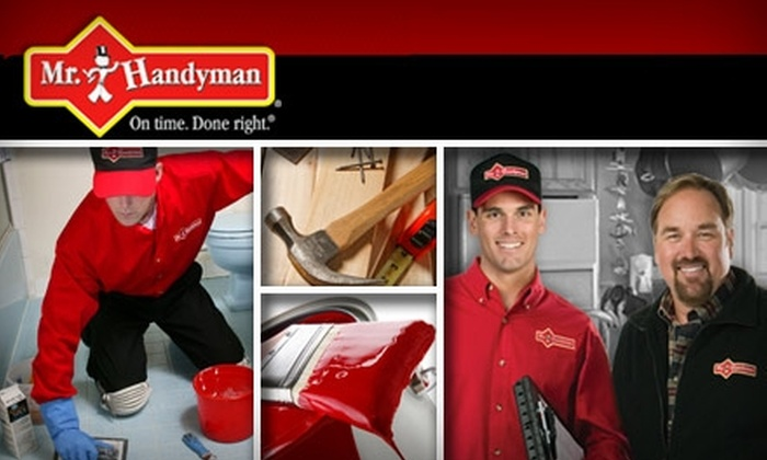$49 for One Hour of Services from Mr. Handyman. Choose from Eight Locations.