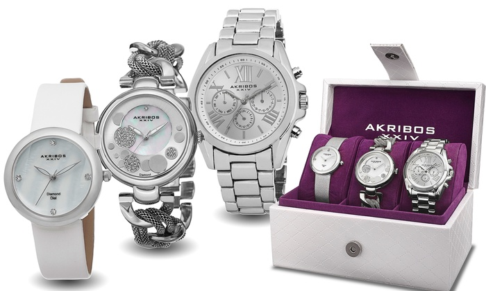5686661ac73b Akribos XXIV and August Steiner Women s Watch Gift Sets