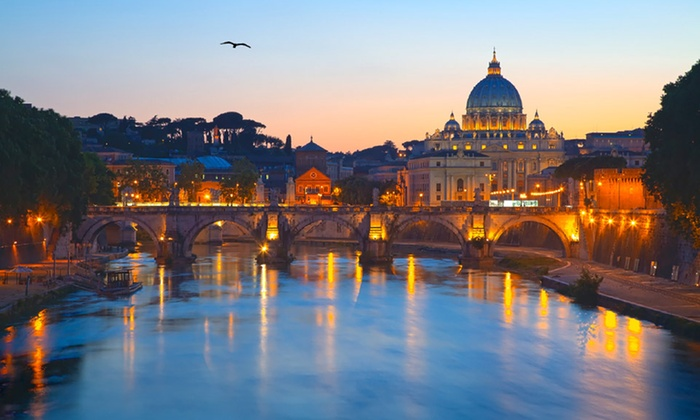 Multi-City European Vacation with Airfare - Rome, Paris, and London: 8-Day Vacation in Rome, Paris, and London with Airfare from Gate 1 Travel
