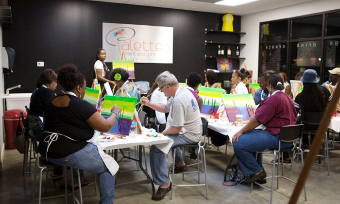Palette's Paint and Wine Bar - Fayetteville: $20 for a BYOB Painting Class for One at Palette's ($35 Value)