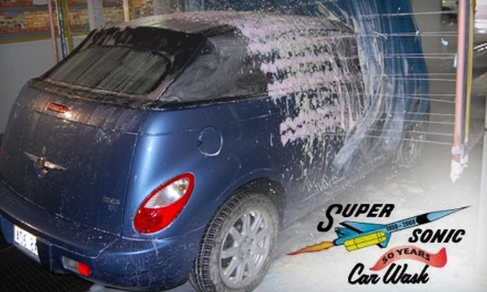 "Super Sonic Car Wash - South Ogden: $49 for Five ""Works"" Carwashes at Super Sonic Car Wash ($105 Value)"