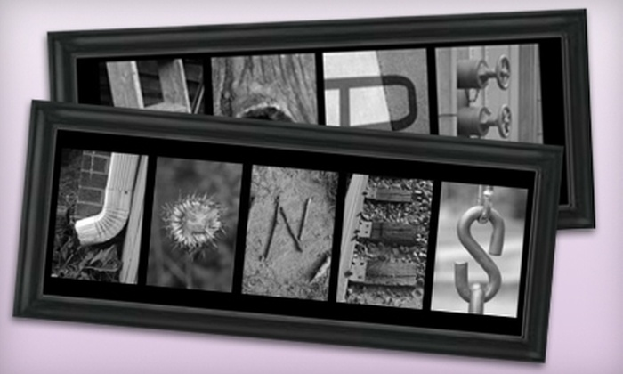Frame the Alphabet in | Groupon
