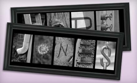 Frame the Alphabet - Frame the Alphabet in