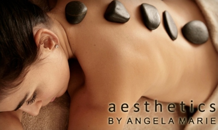 Aesthetics by Angela Marie - Bruleville: $49 for a Hot Stone Massage at Aesthetics by Angela Marie in Hamilton ($113 Value)