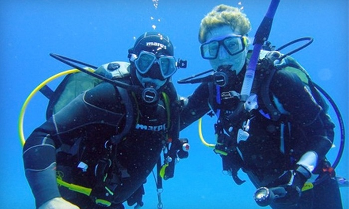 Groundhog Divers - Mount Hope Huron Park: Introductory Scuba Lesson or Scuba-Diving Course with Certification at Groundhog Divers (Up to 71% Off)