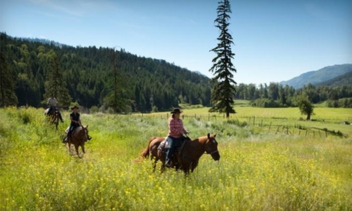 Tod Mountain Ranch - Heffley Creek: $475 for Horseback Riding Vacation for Two at Tod Mountain Ranch ($950 Value)