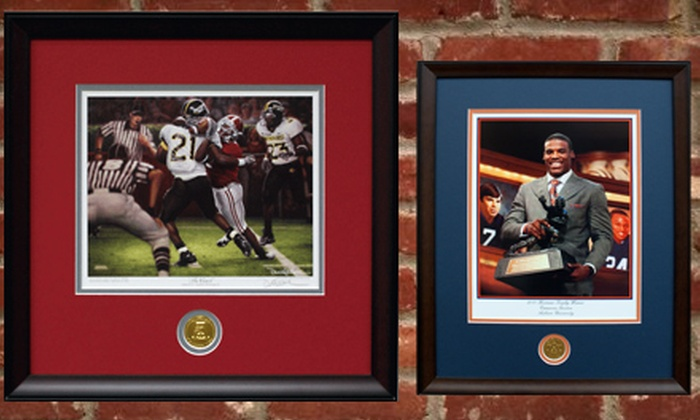 FramedCollegeFootballArt: $25 for $50 Worth of Merchandise from FramedCollegeFootballArt