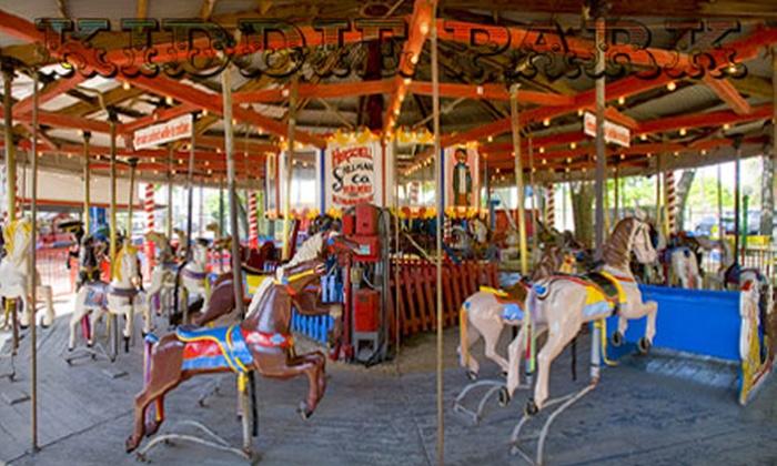 Kiddie Park San Antonio - Mahncke Park: Unlimited-Ride Bands for Four, Unlimited-Ride Bands and Two Popcorns, or Unlimited-Ride Bands and 50 Ride Tickets at Kiddie Park
