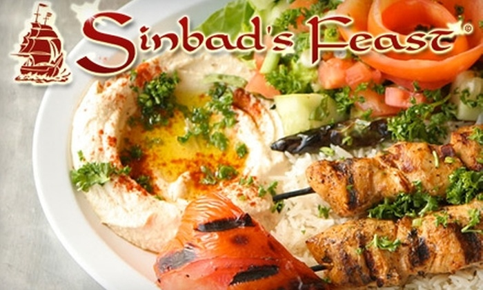 Sinbad's Feast - Johns Creek: $19 for $40 Worth of Mediterranean Dinner Fare at Sinbad's Feast in Johns Creek (or $10 for $20 Toward Lunch)