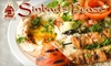 Sinbad's Feast - CLOSED - Johns Creek: $19 for $40 Worth of Mediterranean Dinner Fare at Sinbad's Feast in Johns Creek (or $10 for $20 Toward Lunch)