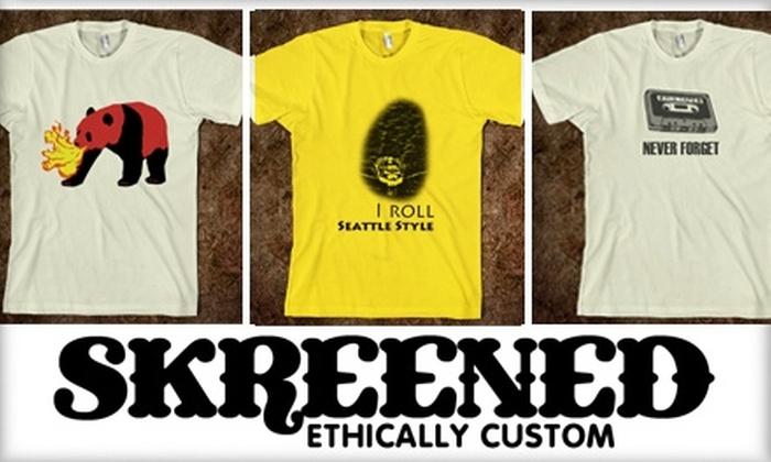 Skreened - Seattle: $15 for $30 Worth of Custom-Designed Clothing at Skreened