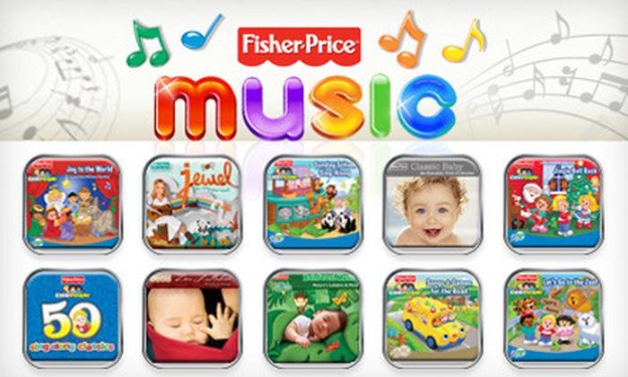 Fisher-PriceMusic.com: $24 for Choice of 50 Children's MP3 Music Tracks from Fisher-PriceMusic.com ($49.50 Value)