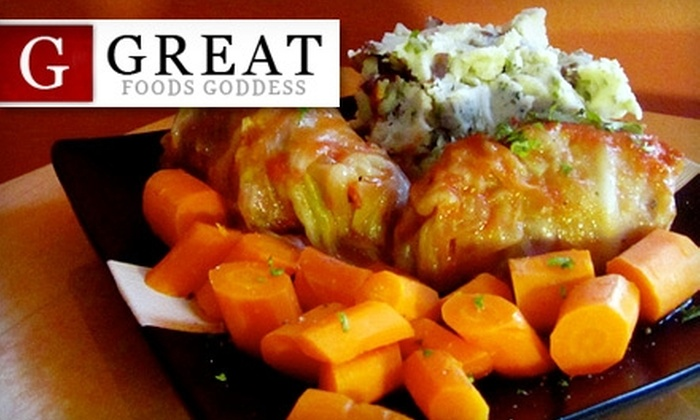 Great Foods Goddess - Windsor: $36 for Five Fresh Gourmet Meals from Great Foods Goddess