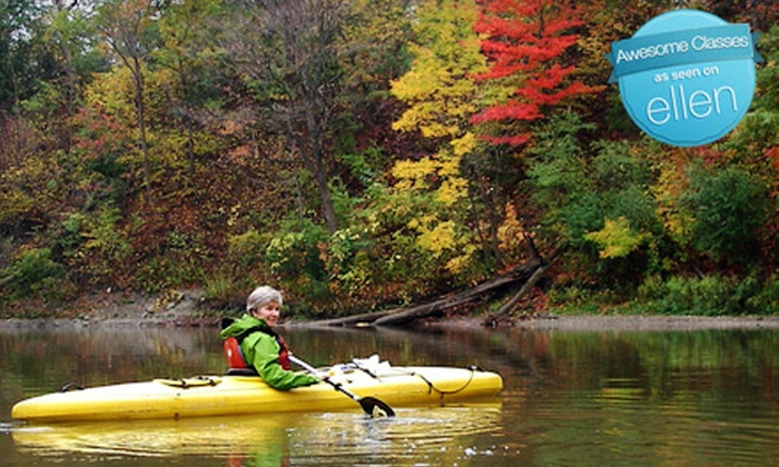 "Toronto Adventures - Lambton Baby Point: ""Fall Colours"" Introductory Kayak or Canoe Lesson and Two-Hour Guided Humber River Adventure Tour for One, Two, or a Family from Toronto Adventures"